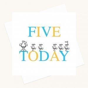 boy aged five birthday card animal characters