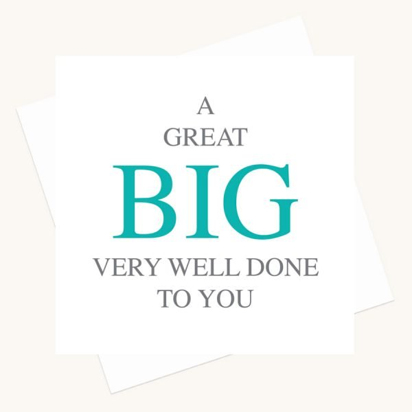 very well done greeting card bold lettering