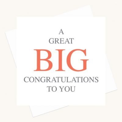 congratulations greeting card bold lettering