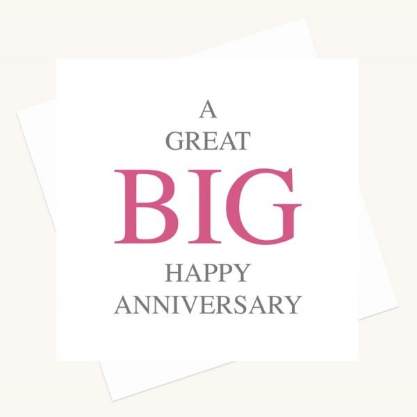 happy anniversary greeting card bold lettering