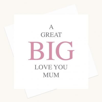 love you mum greeting card bold lettering