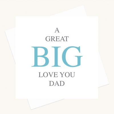 love you dad greeting card bold lettering
