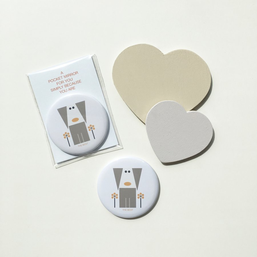 the best pocket mirror dog flowers with card
