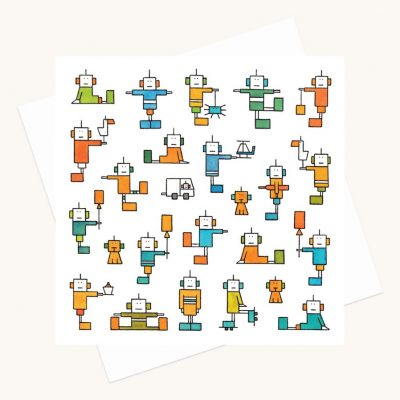 happy robots greeting card any occasion