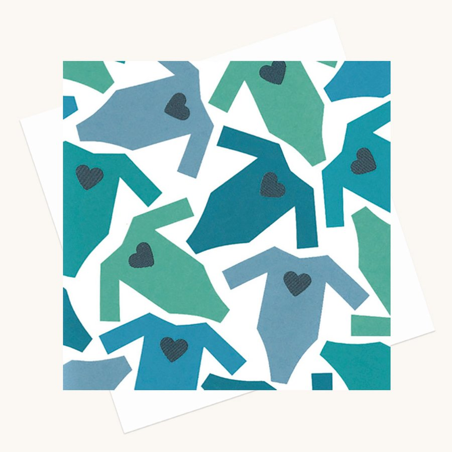 new baby boy greeting card baby grows and hearts blue