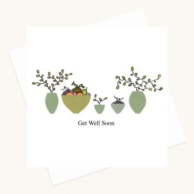 get ell soon greeting card fruit and flowers