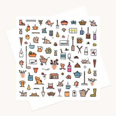 house and garden illustrations greeting card any occasion