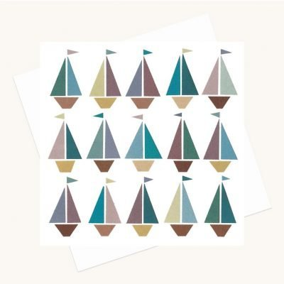 sailing boats greeting card any occasion