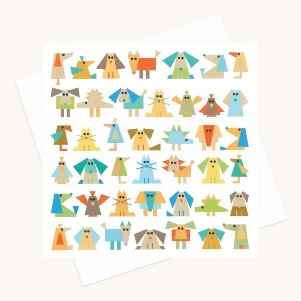 fun animal characters greeting card blues quirky