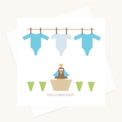 hello new baby boy greeting card blue baby grows bird