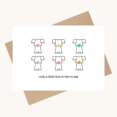 dotty message greeting card dos colourful noses any occasion