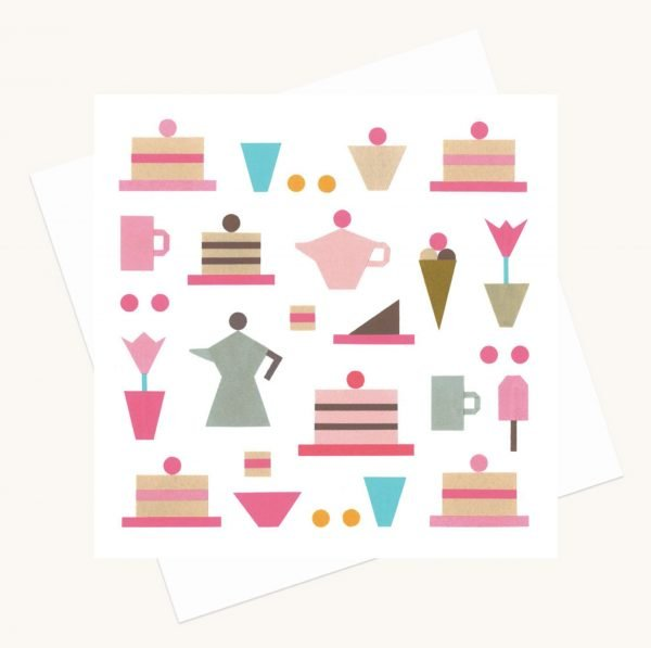 coffee and cake greeting card lucy monkman