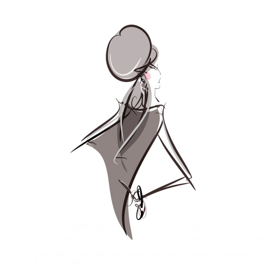 shades of grey fashion illustration