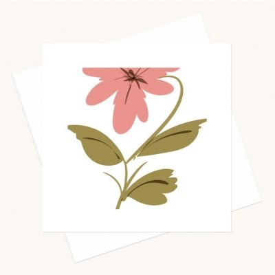 floral greeting card blank inside