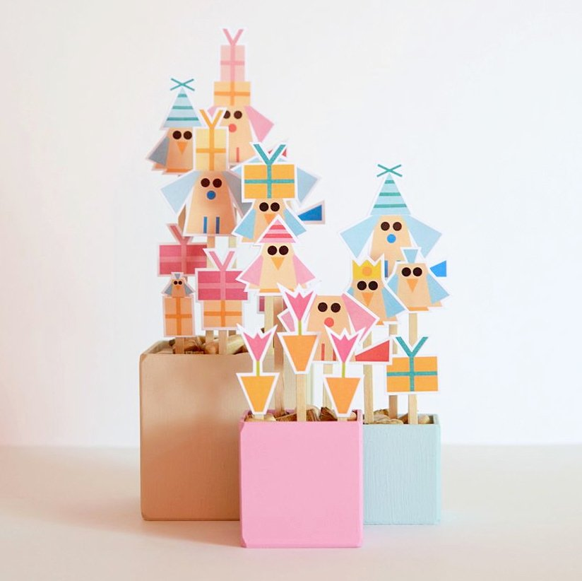 made with love greeting cards cut outs display