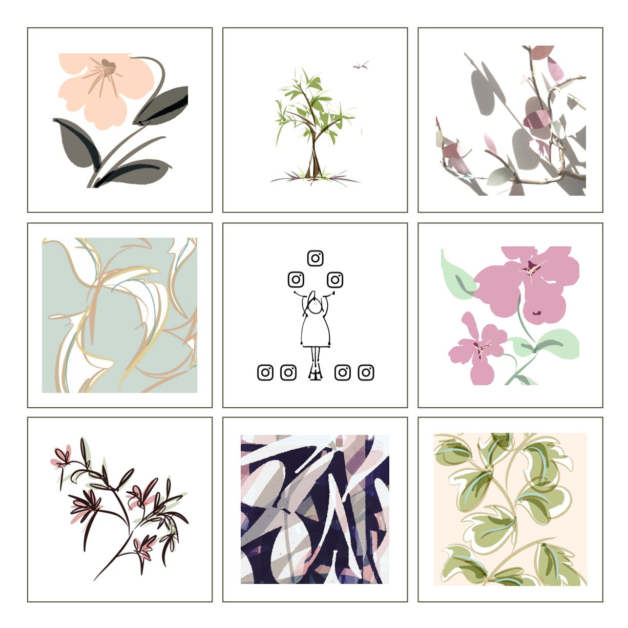 instagram new floral greeting card range