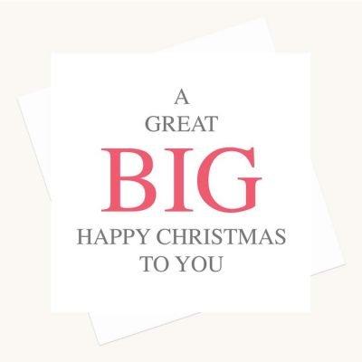 big message greeting card happy christmas
