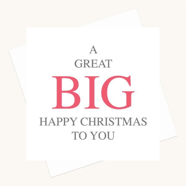 big message greeting card happy christmas