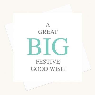 big message greeting card festive good wish