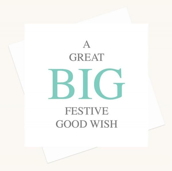 big message greeting card festive good wish