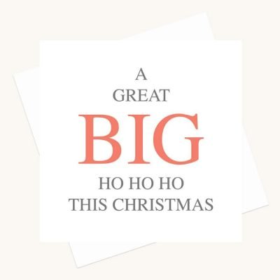 big message greeting card ho ho ho this christmas
