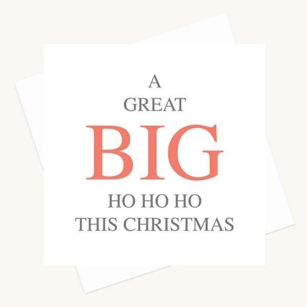 big message greeting card ho ho ho this christmas