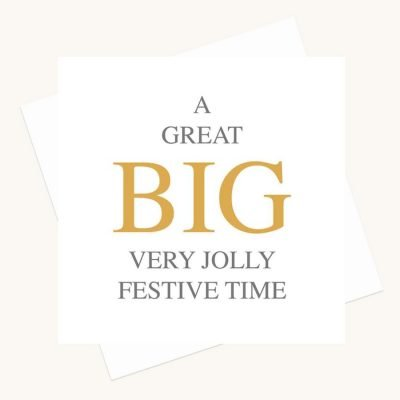big message greeting card very jolly festive time
