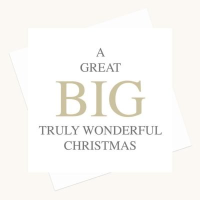 big message greeting card truly wonderful christmas