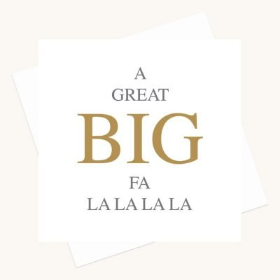 big message greeting card fa la la la la
