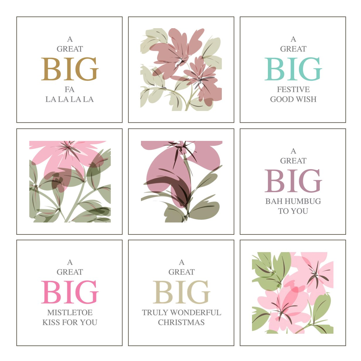floral festive greeting cards online shop