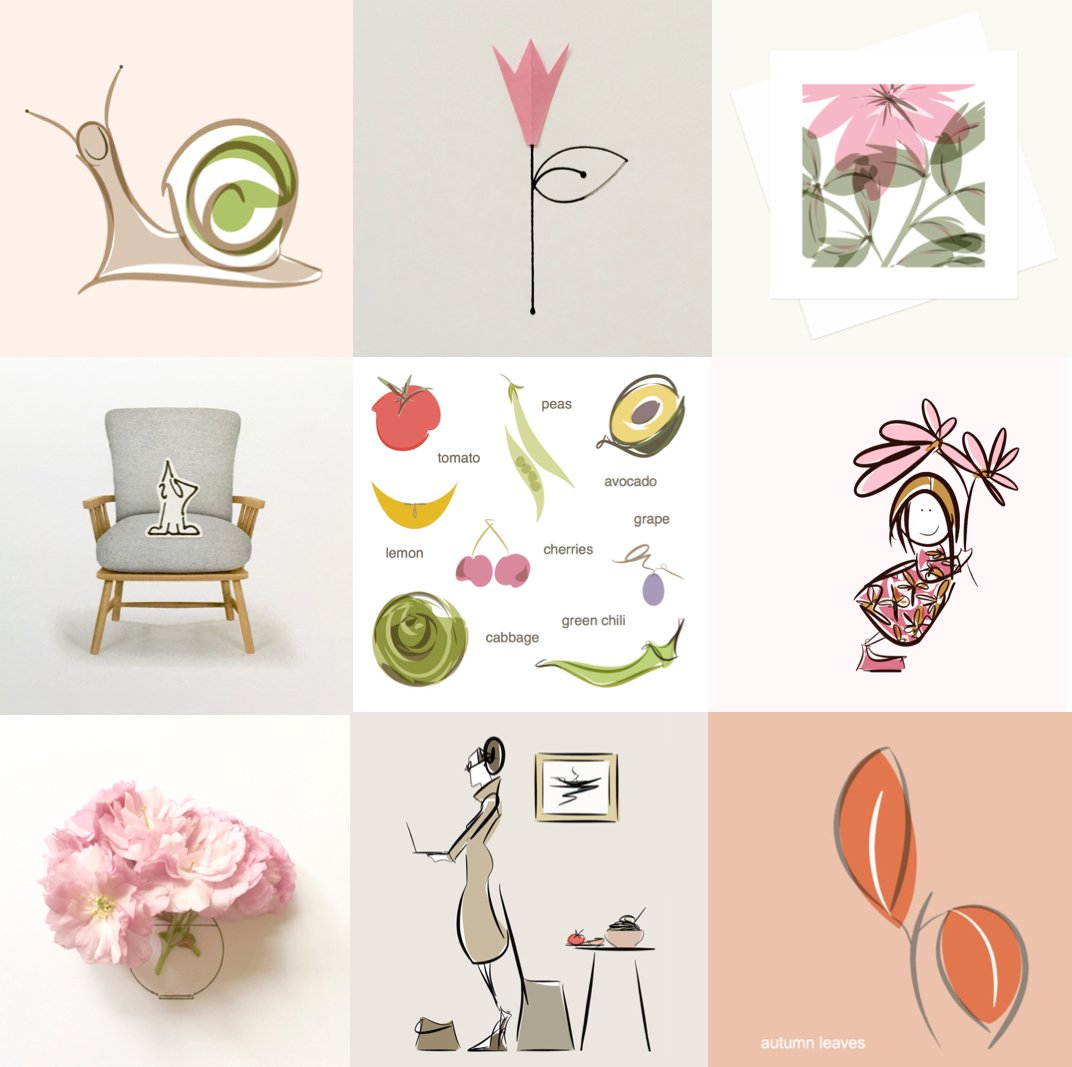 illustration examples drawing collage digital