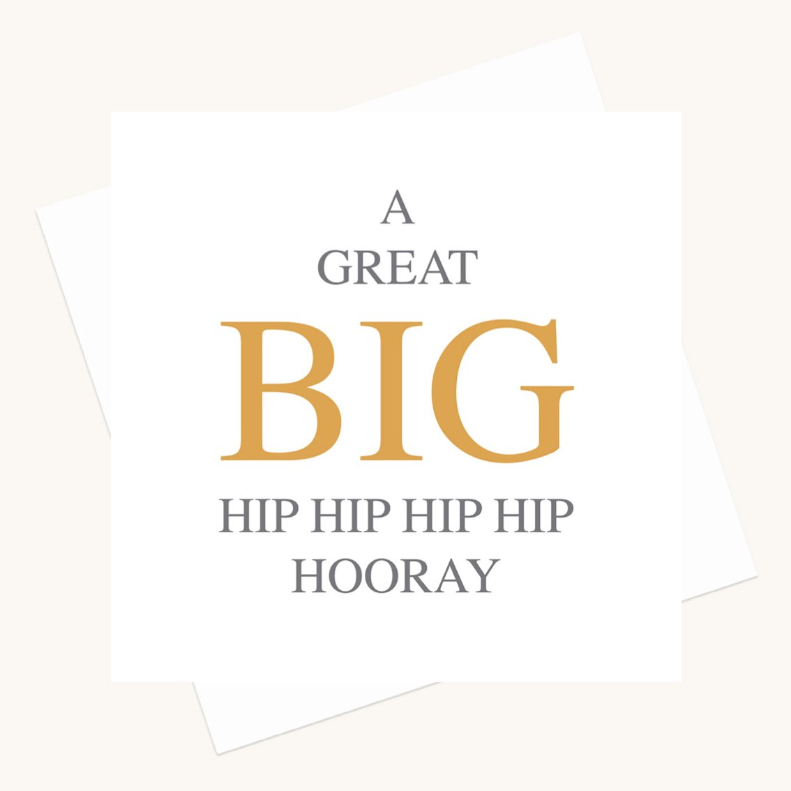 hip hooray greeting card