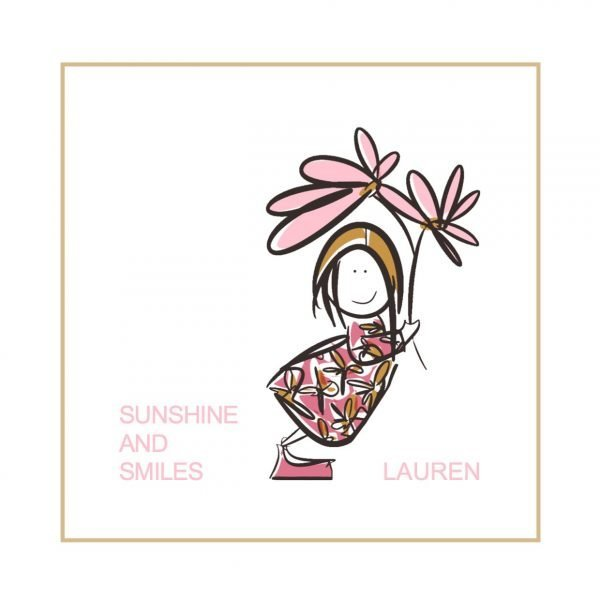 personalised smile print girl illustration