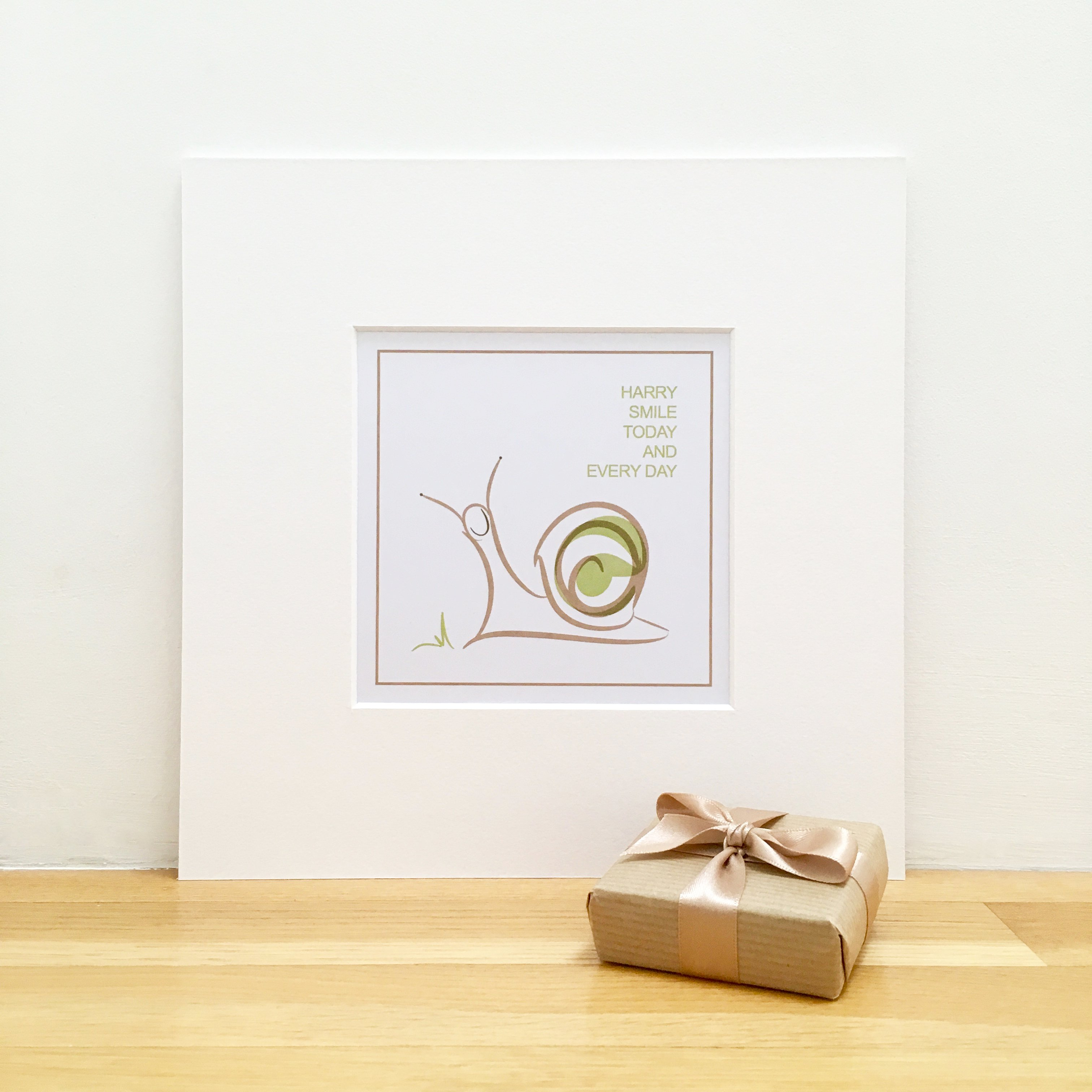personalised smile print snail illustration