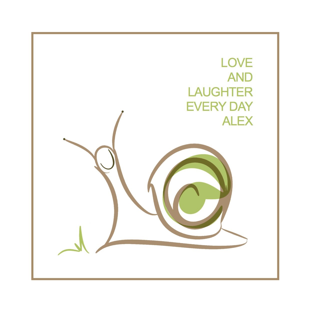 personalised smile print snail illustration