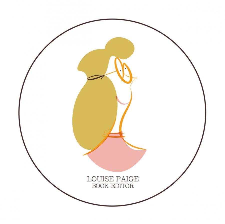 book editor portrait digital illustration logo