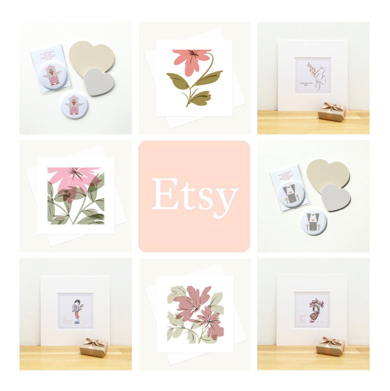 easy shop personalised prints greeting cards