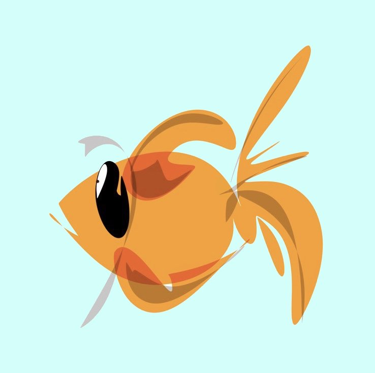 goldfish illustration digital drawing