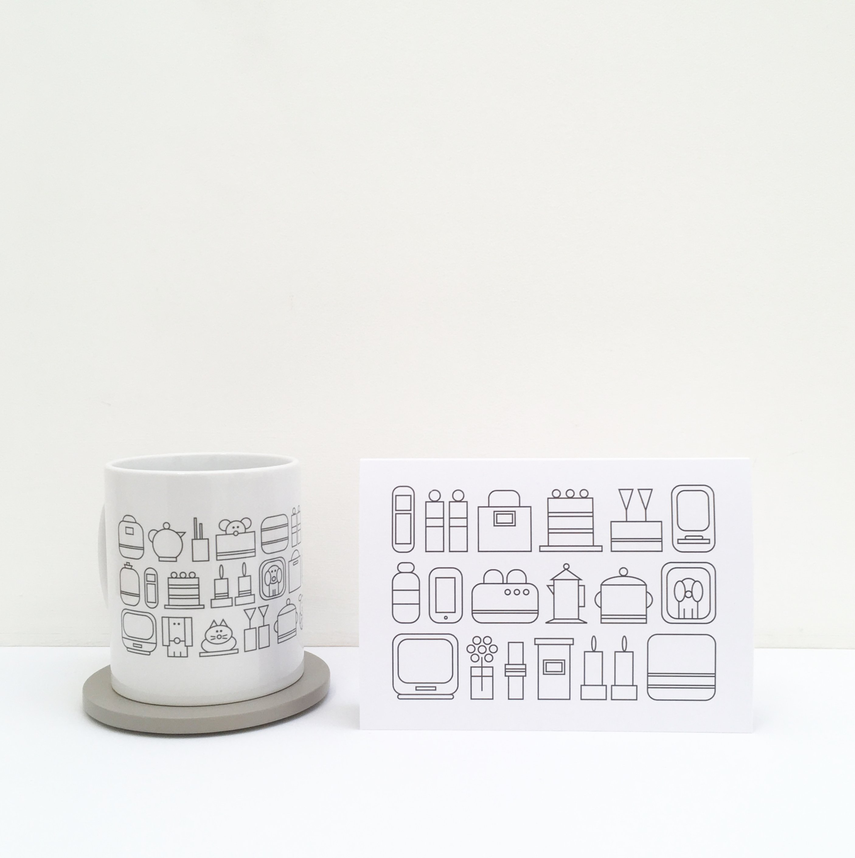 home sweet home ceramic mug greeting card