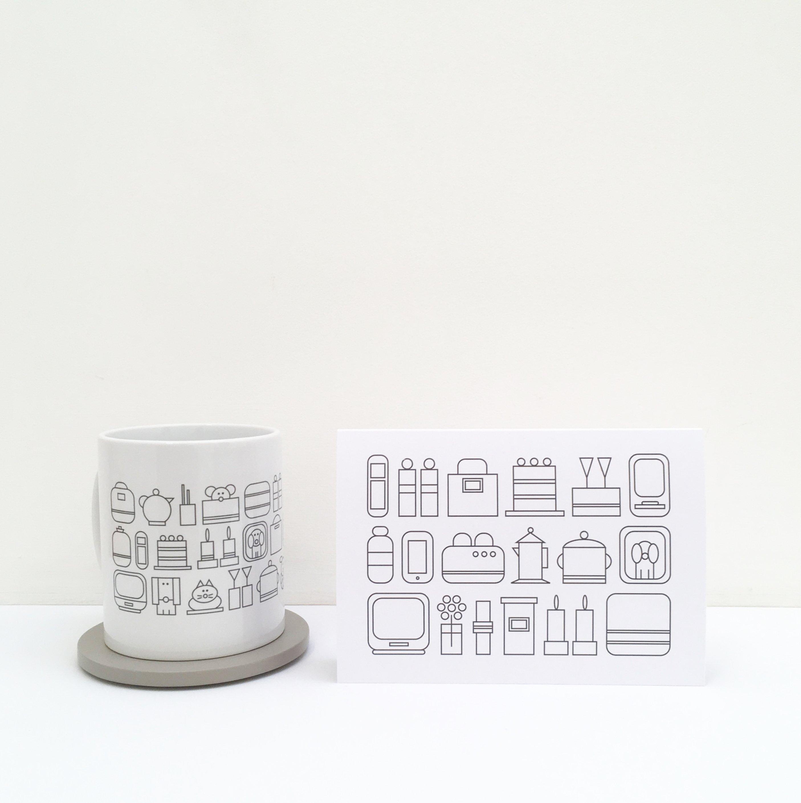 home sweet home ceramic mug greeting card