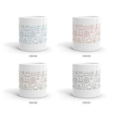 home sweet home ceramic mugs set