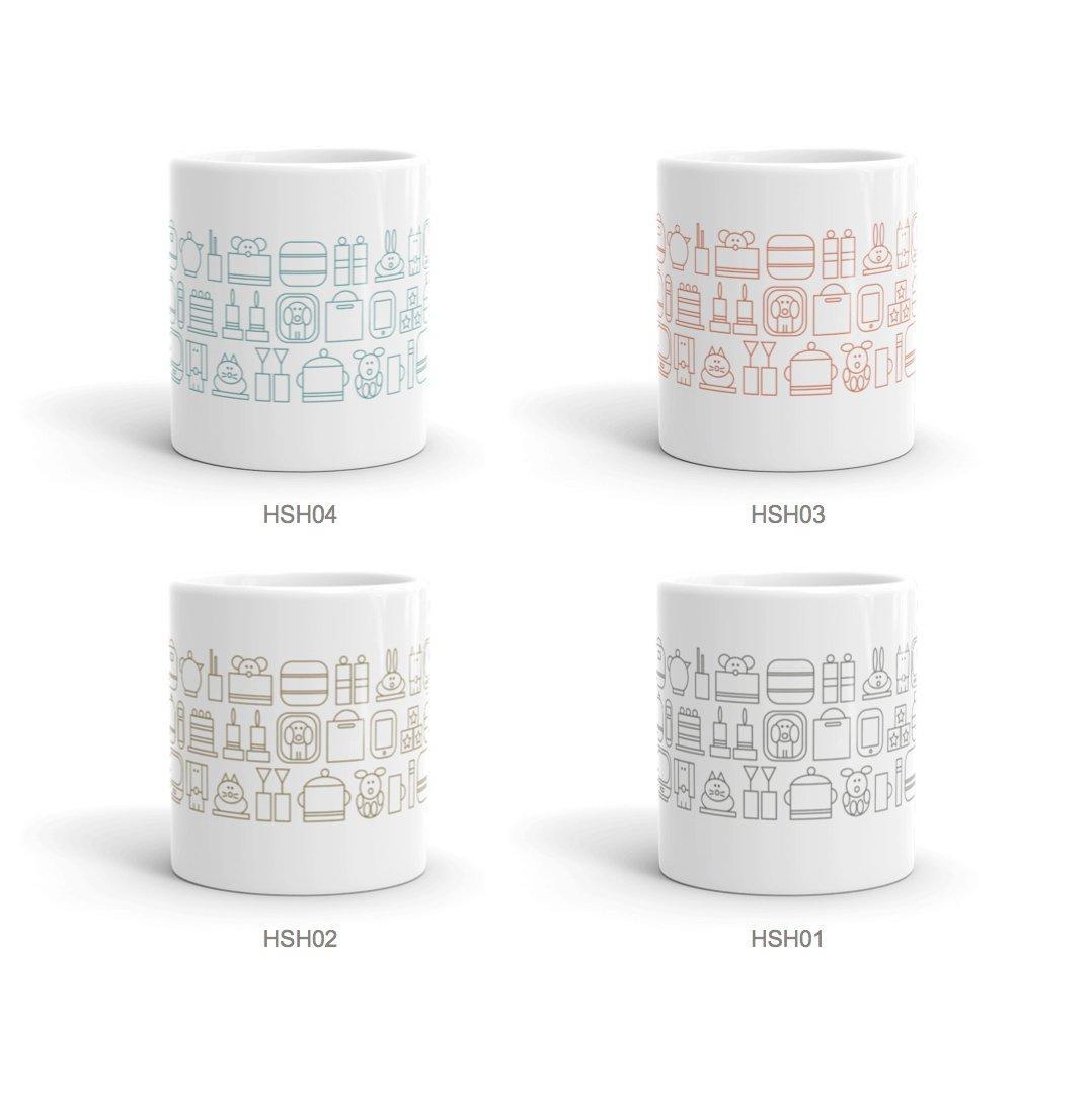 home sweet home ceramic mugs set