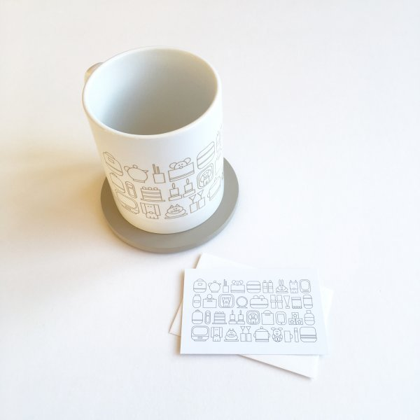 home sweet home mug with mini postcard
