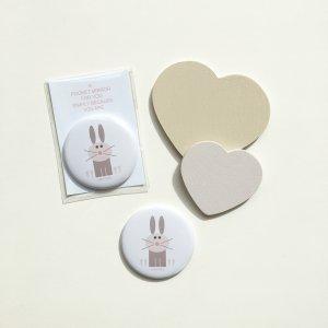 very nice rabbit pocket mirror