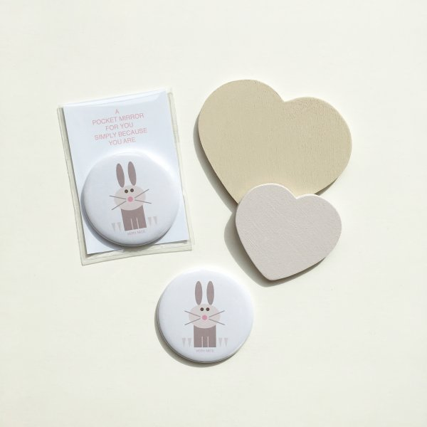 very nice rabbit pocket mirror
