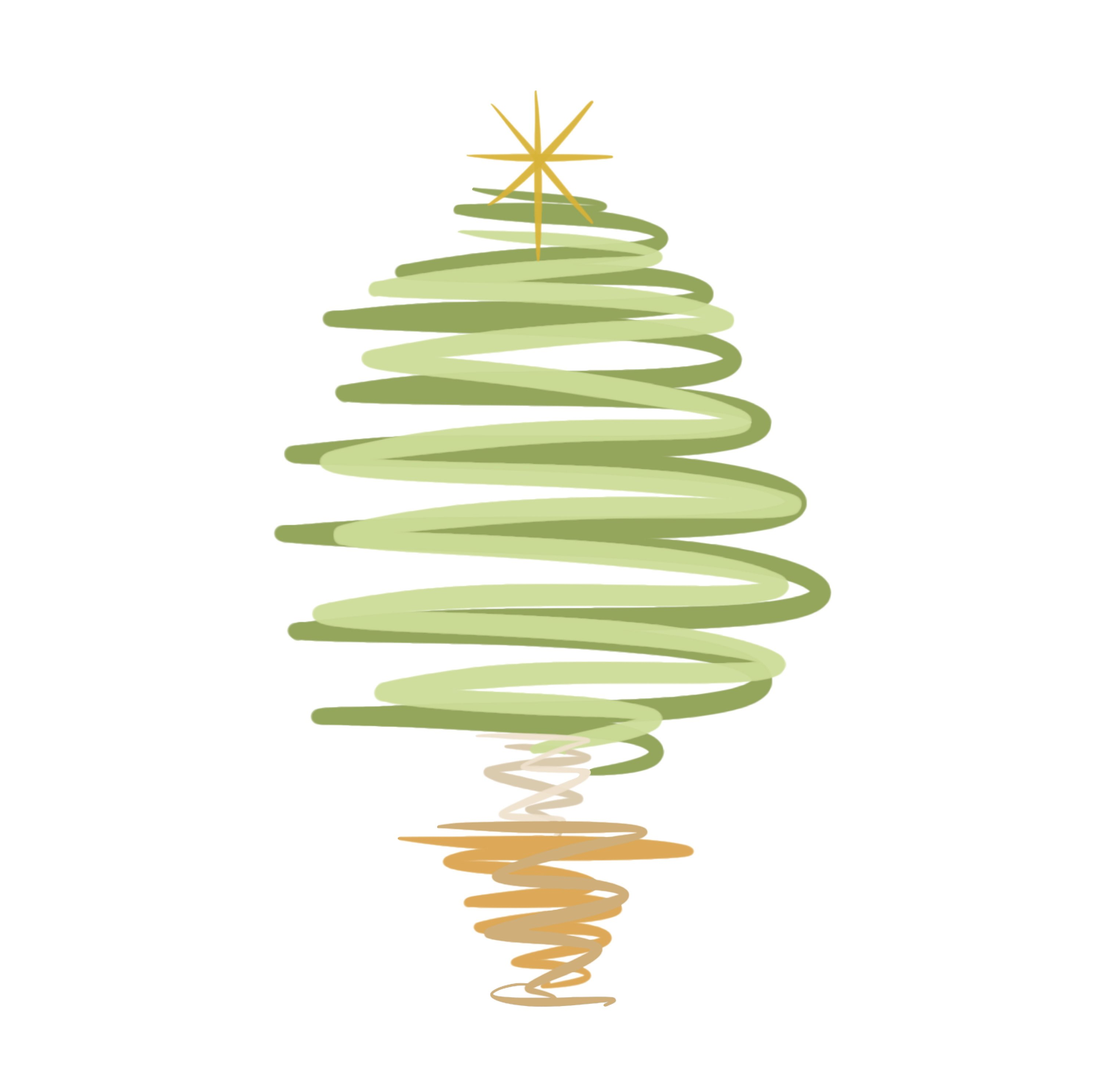christmas tree illustration 2019