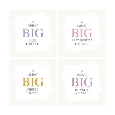 great big offer four big message greeting cards for staying in touch