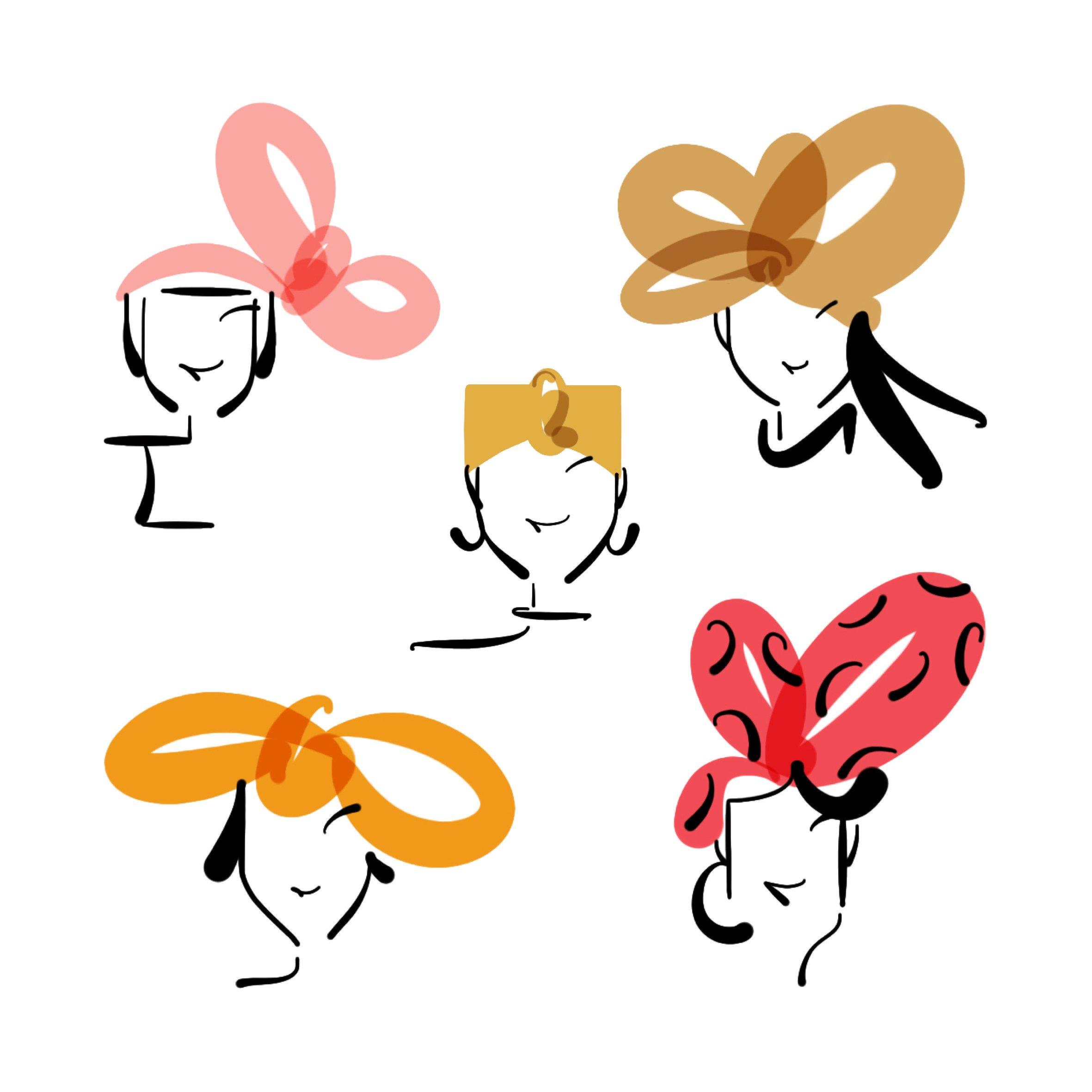 headbands illustration lucy monkman