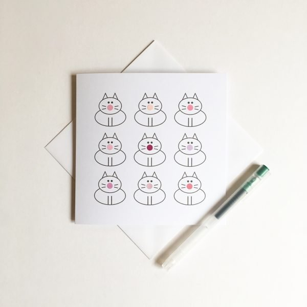 dots for cats cat greeting card lucy monkman