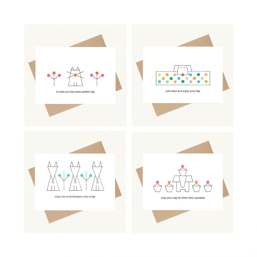 dotty message greeting cards offer lucy monkman
